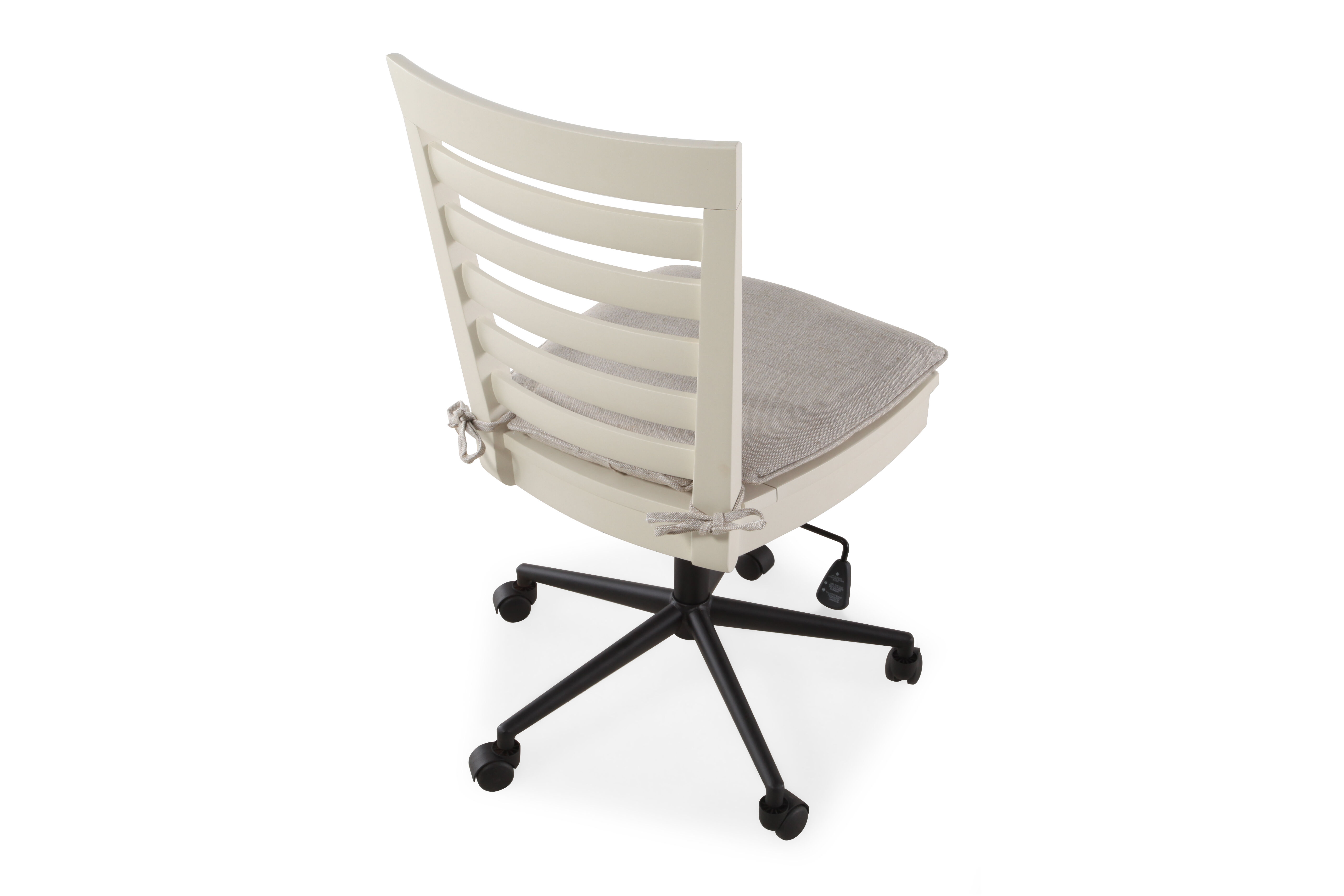swivel chair kids pallet diy contemporary youth desk in parchment mathis