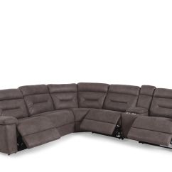 Gray Microfiber Power Reclining Sofa Houzz Living Room Sectional Sofas Six Piece 168 Quot In