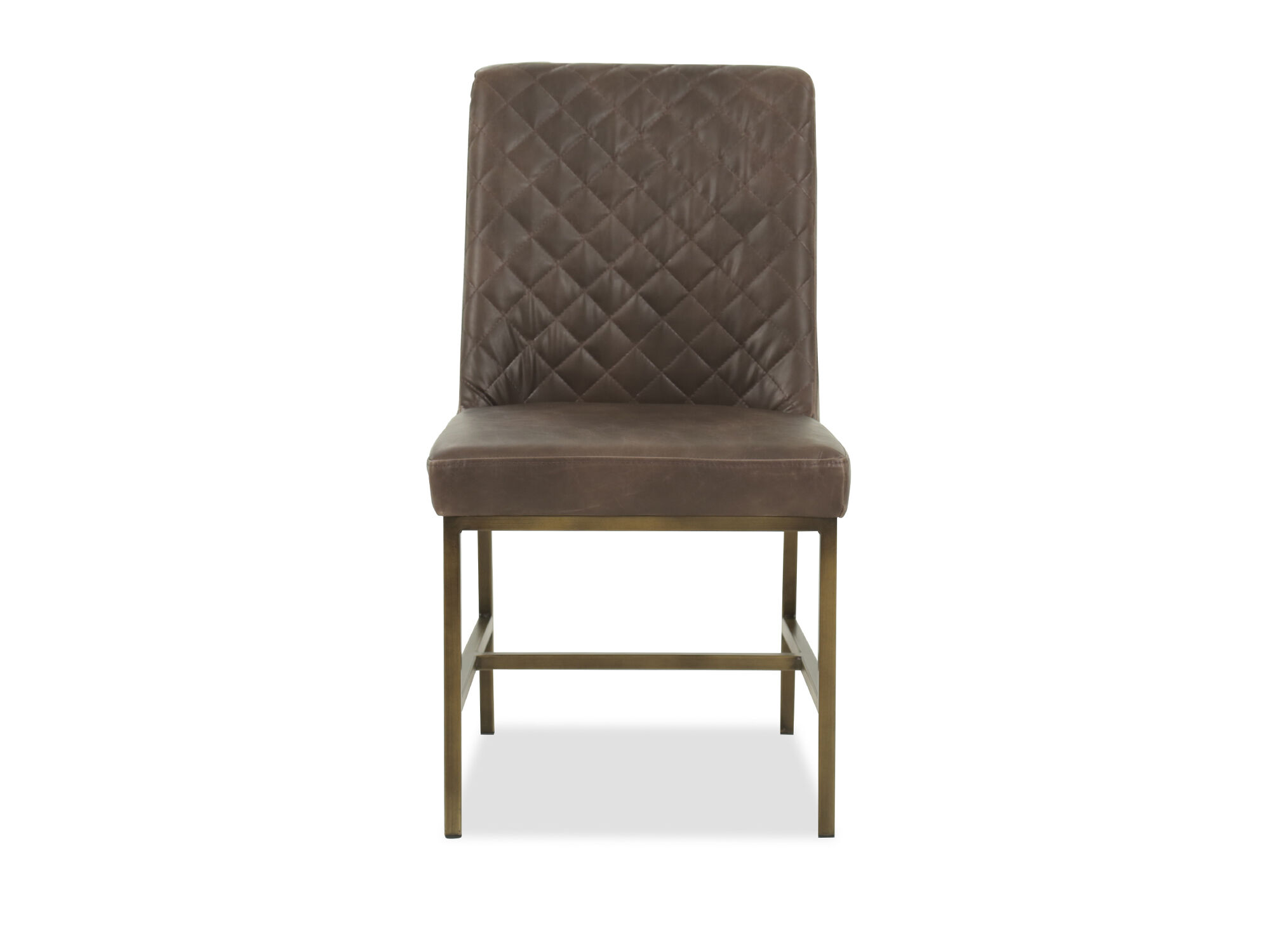 leather tufted dining chair lucite ghost 20 in brown mathis brothers furniture