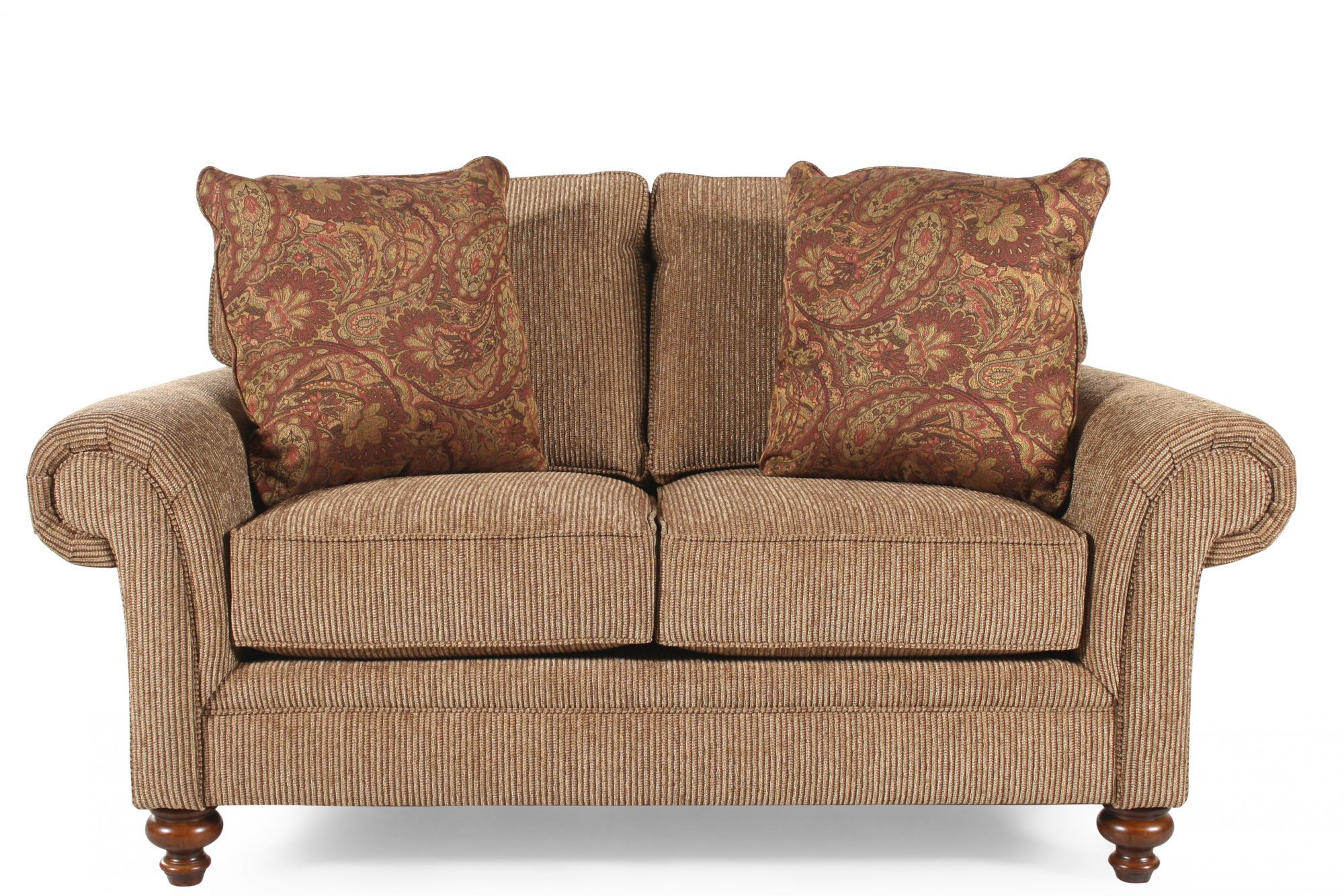 Textured Traditional 66 Loveseat in NutBrown  Mathis