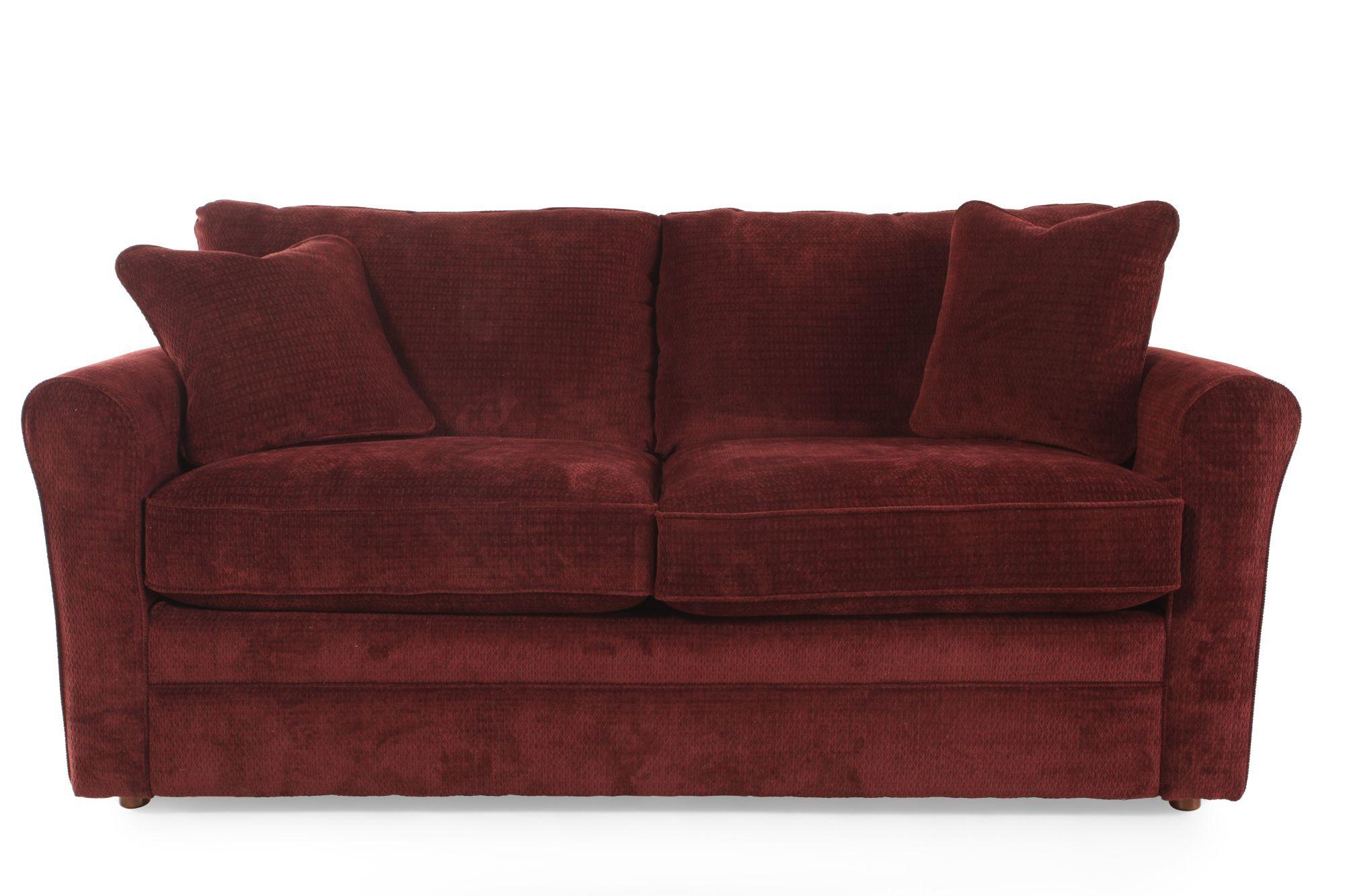 """Traditional 82"""" Queen Sleeper Sofa in Merlot   Mathis ..."""