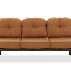 Button Tufted Sofas Tylosand Sofa Covers Aluminum In Brown Mathis Brothers