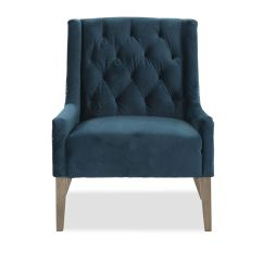 Home Decor Accent Chairs Banquet With Arms Tufted Casual Velvet Chair In Blue Mathis