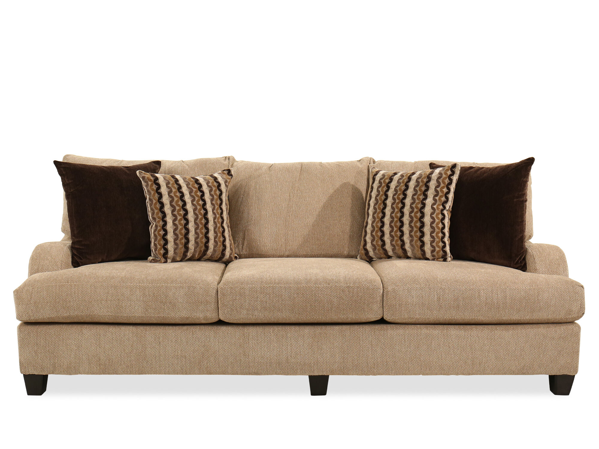 cloud track arm leather two seat cushion sofa simple sofas couches mathis brothers furniture stores 97 quot transitional