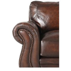 Bernhardt Brown Leather Club Chair Reading World Market Nailhead Trimmed In Mathis Brothers