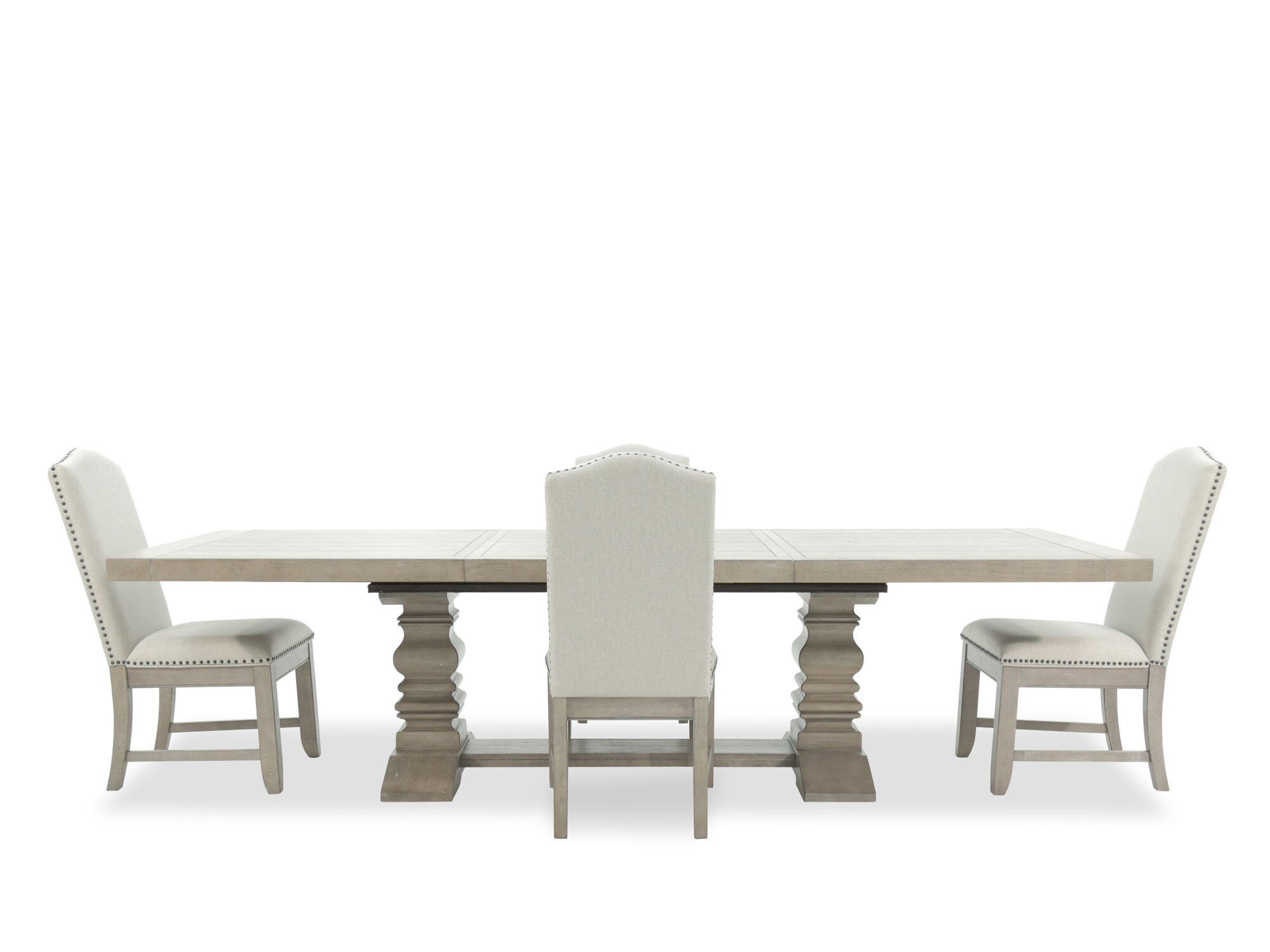 Five Piece Nailhead Trimmed Traditional 25 Dining Set In