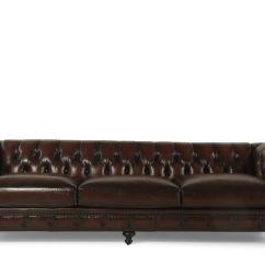 Bernhardt London Club Leather Sofa Price Cushions In Sri Lanka Button Tufted 116 5 Quot Molasses Mathis