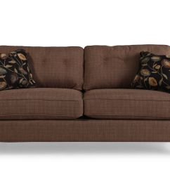 Button Tufted Sofas Sofaer Contemporary 39 Quot Sofa In Mocha Mathis