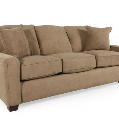 Lane Sleeper Sofa Queen All Wood With Cushions I Rest In Brown Mathis Brothers Furniture