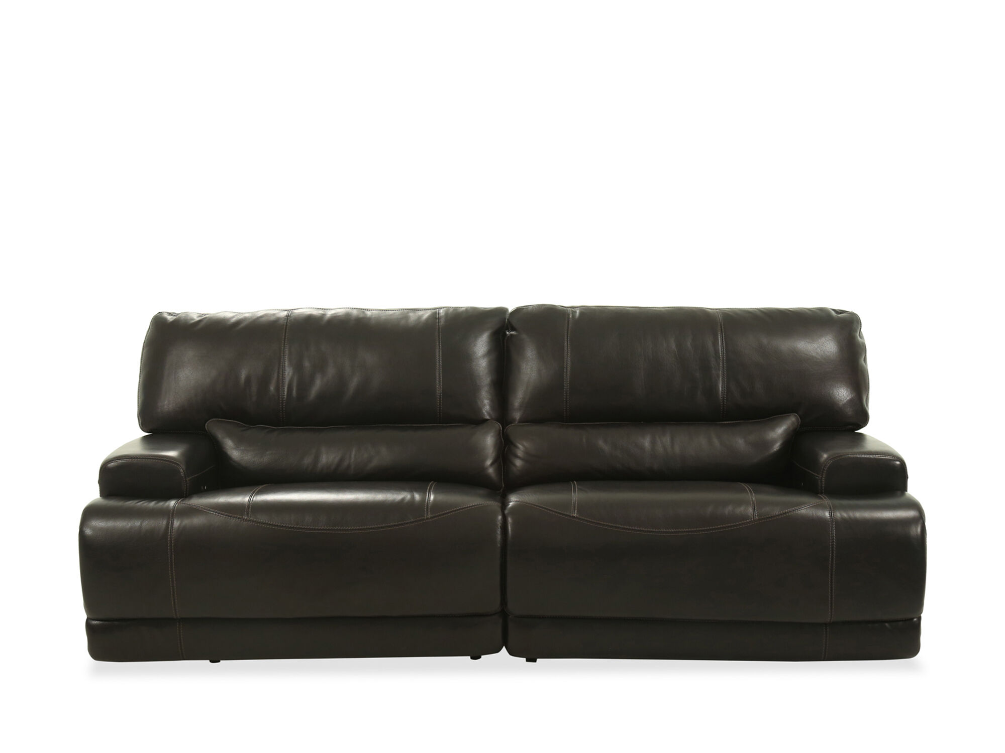 Power Reclining Leather 91 Sofa in Blackberry  Mathis