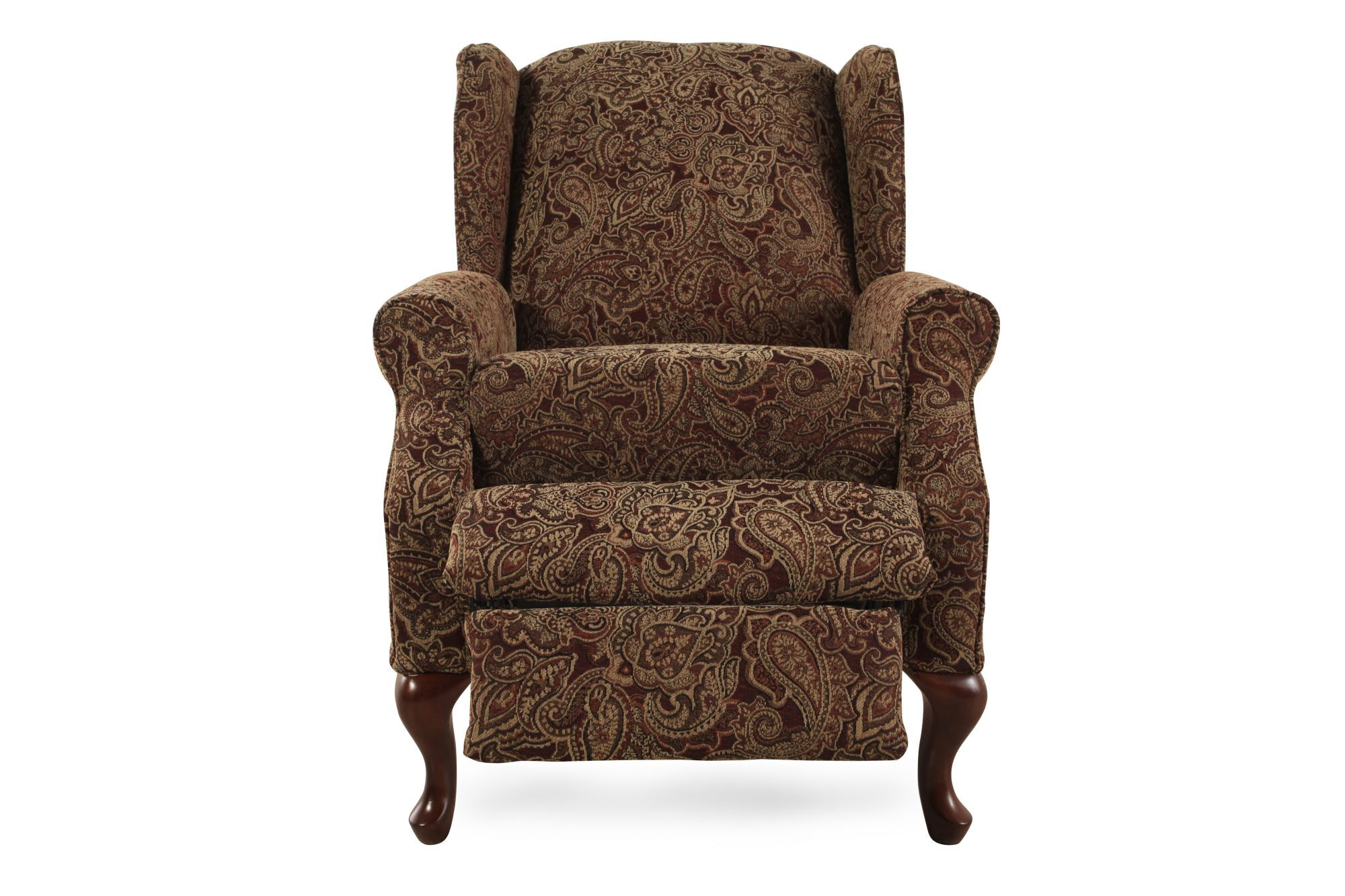 Traditional PaisleyPatterned 30 HighLeg Recliner