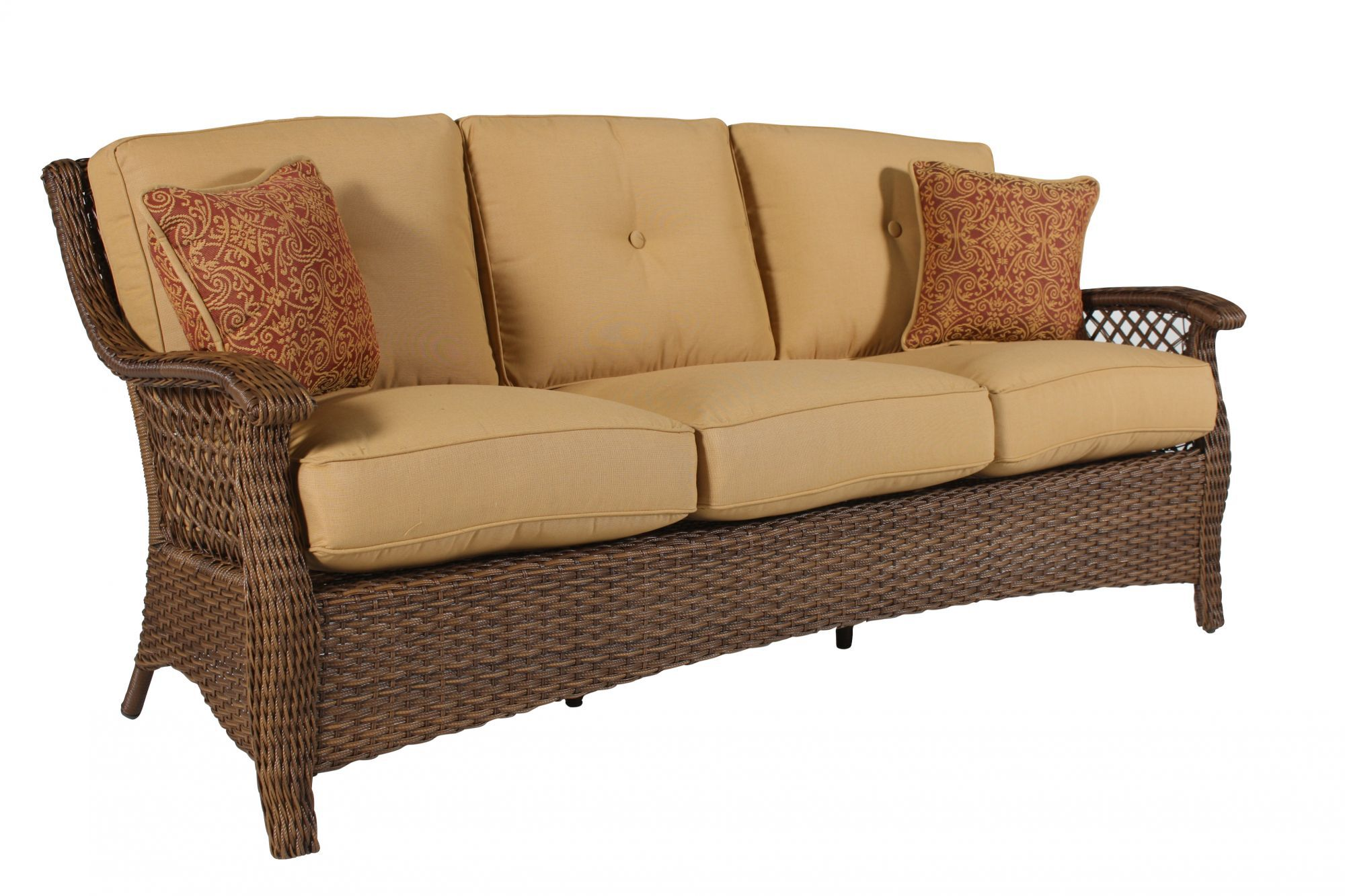 button tufted sofas ara futon sofa bed with storage hazelnut casual woven in brown mathis brothers