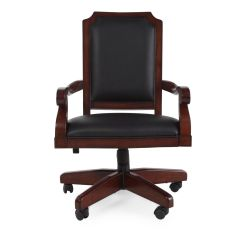 Casters For Office Chairs Classroom Chair Covers With Pocket Pattern Swivel In Dark Cherry Mathis