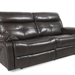 Modern Power Reclining Sofa Console Contemporary 82 Quot In Dark Java