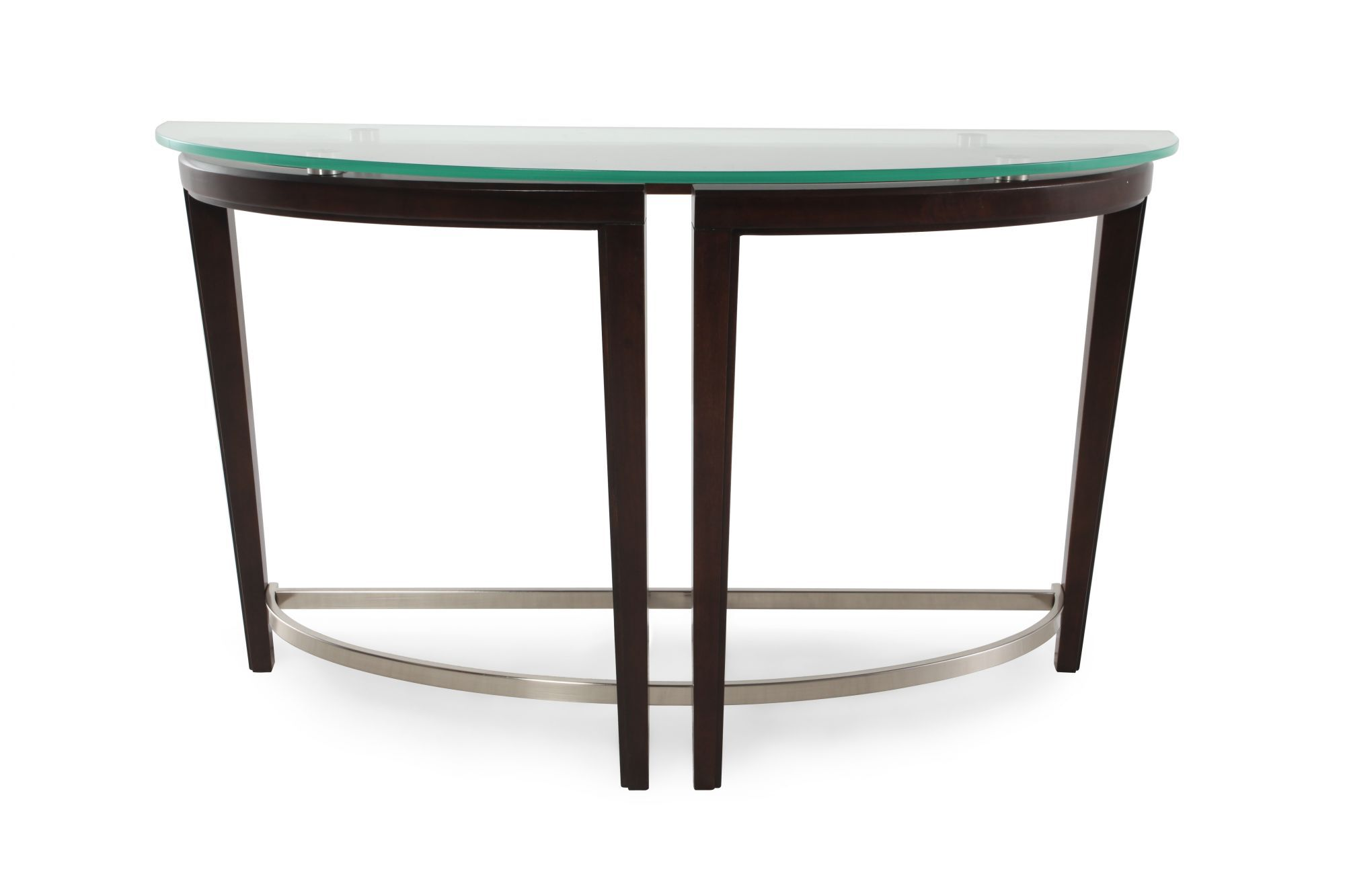 gl sofa tables contemporary armen centennial tempered glass top table in dark