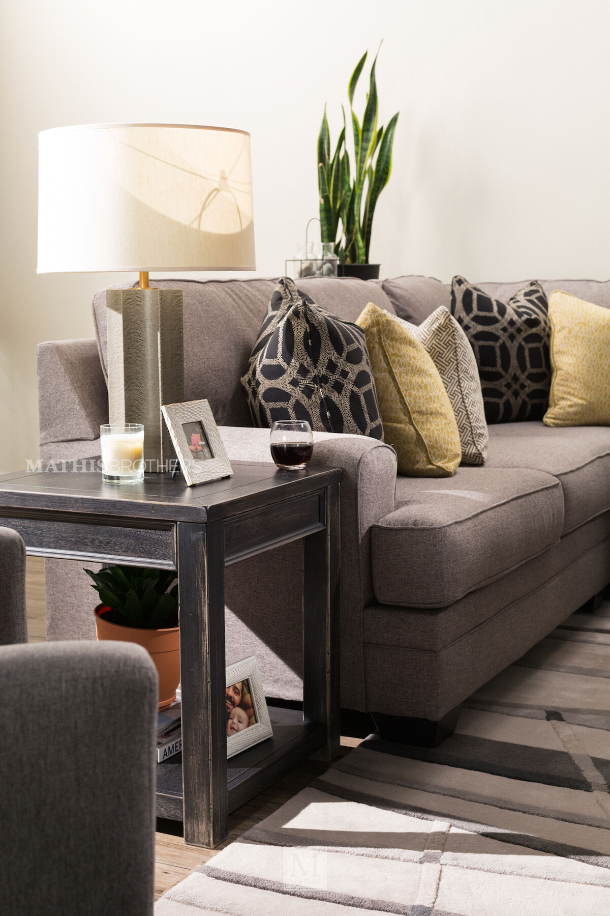 Weathered Square Casual End Table In Black Mathis Brothers Furniture