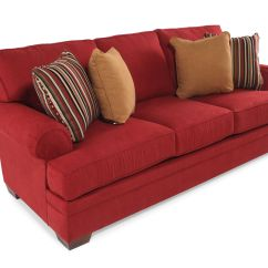 Broyhill Landon Sofa Black And Orange Traditional 89 Quot In Red Mathis Brothers Furniture