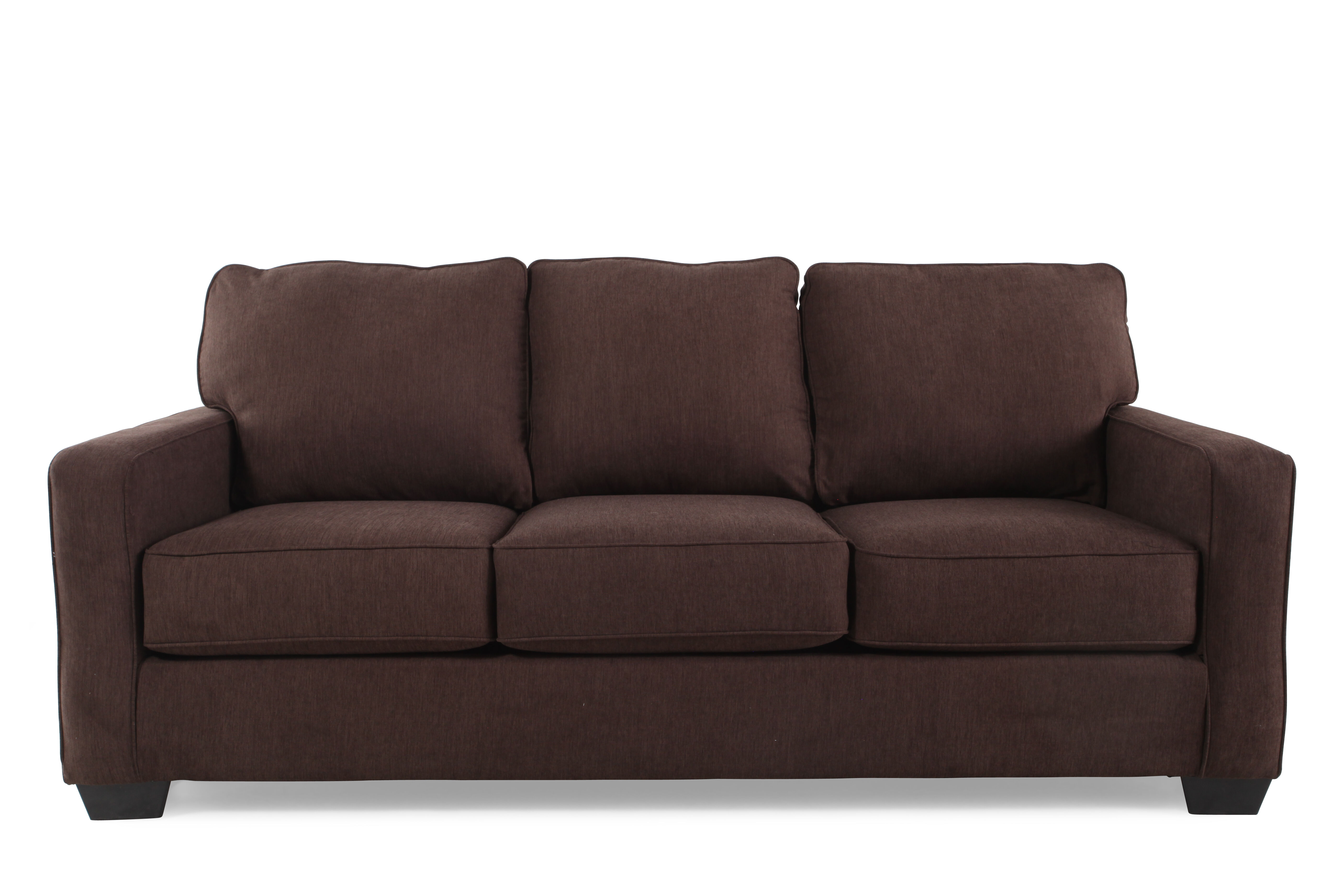Contemporary 82 Queen Sleeper Sofa in Espresso  Mathis Brothers Furniture