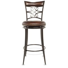 Stool Under Chair Ergonomic Tilt Bar Stools Pub Bistro Chairs Mathis Brothers Casual 46 Quot Nailhead Accented