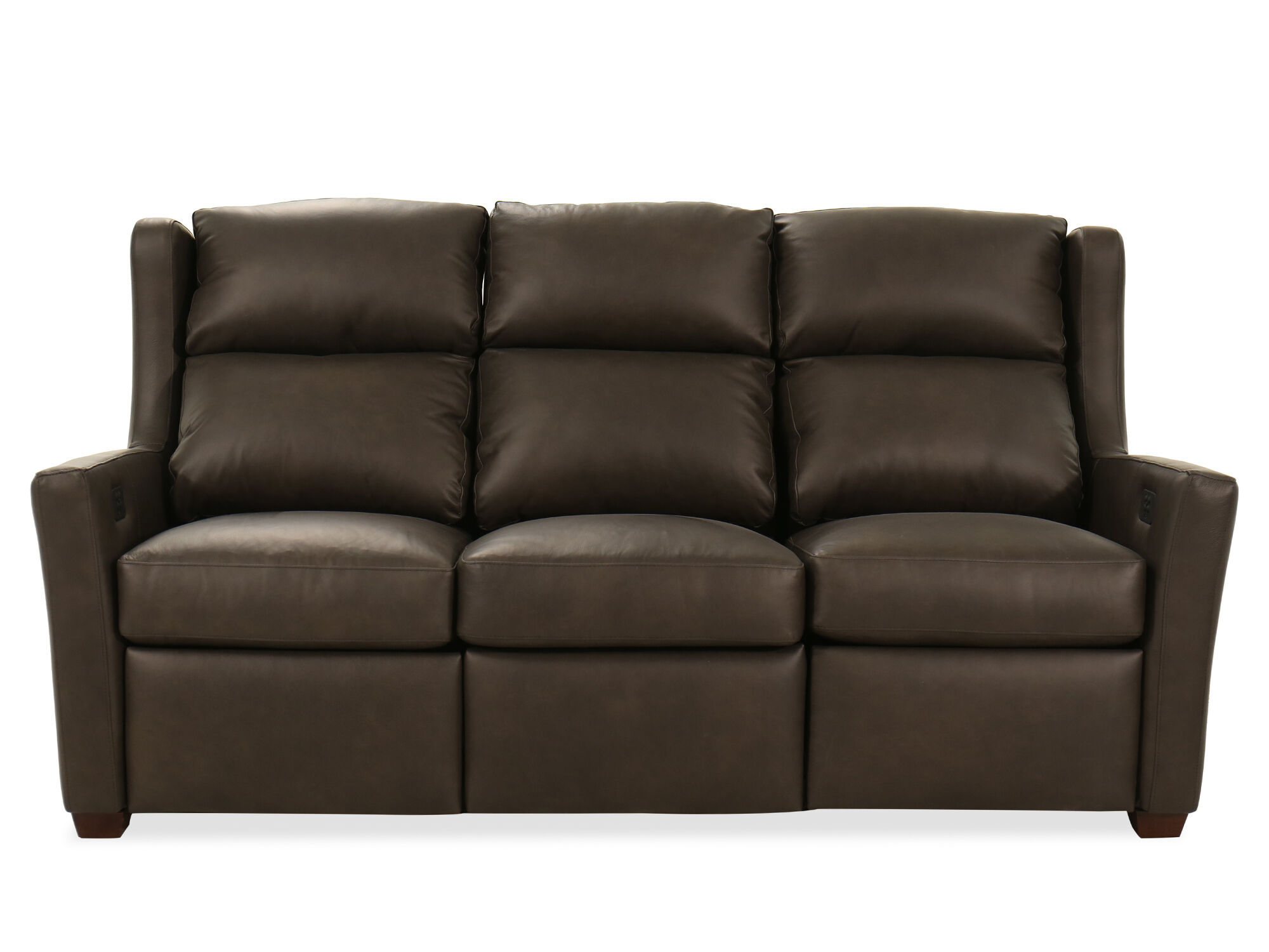 Power Reclining Leather 77 Motion Sofa In Mahogany