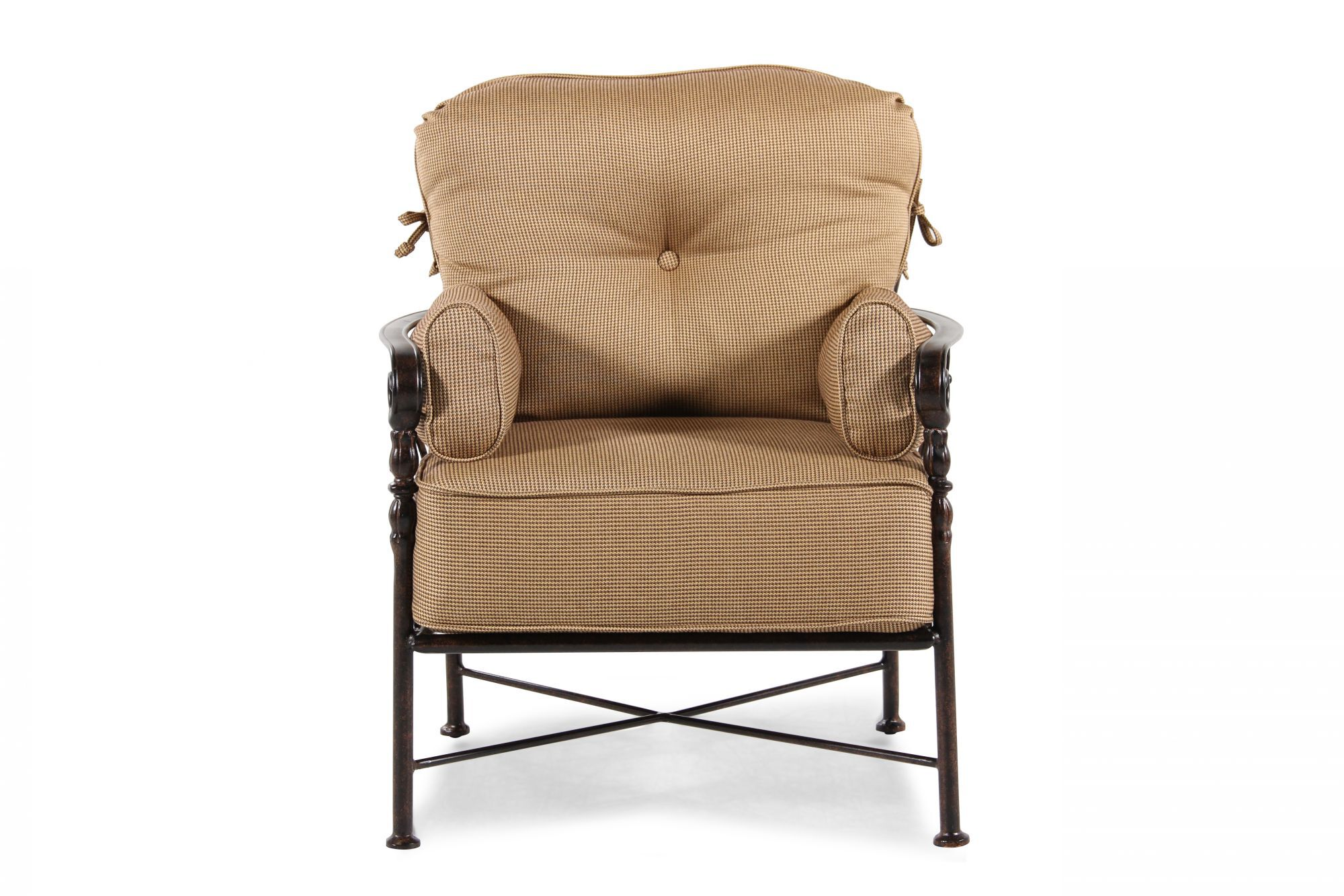 aluminum lounge chairs plus size folding button tufted chair in brown mathis