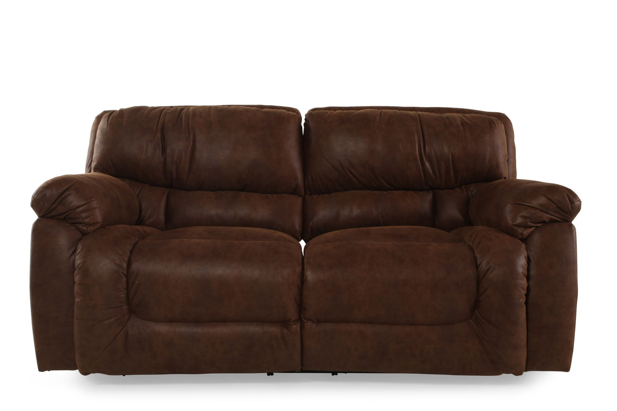 dark brown microfiber sofa seats for toddlers reclining in mathis brothers