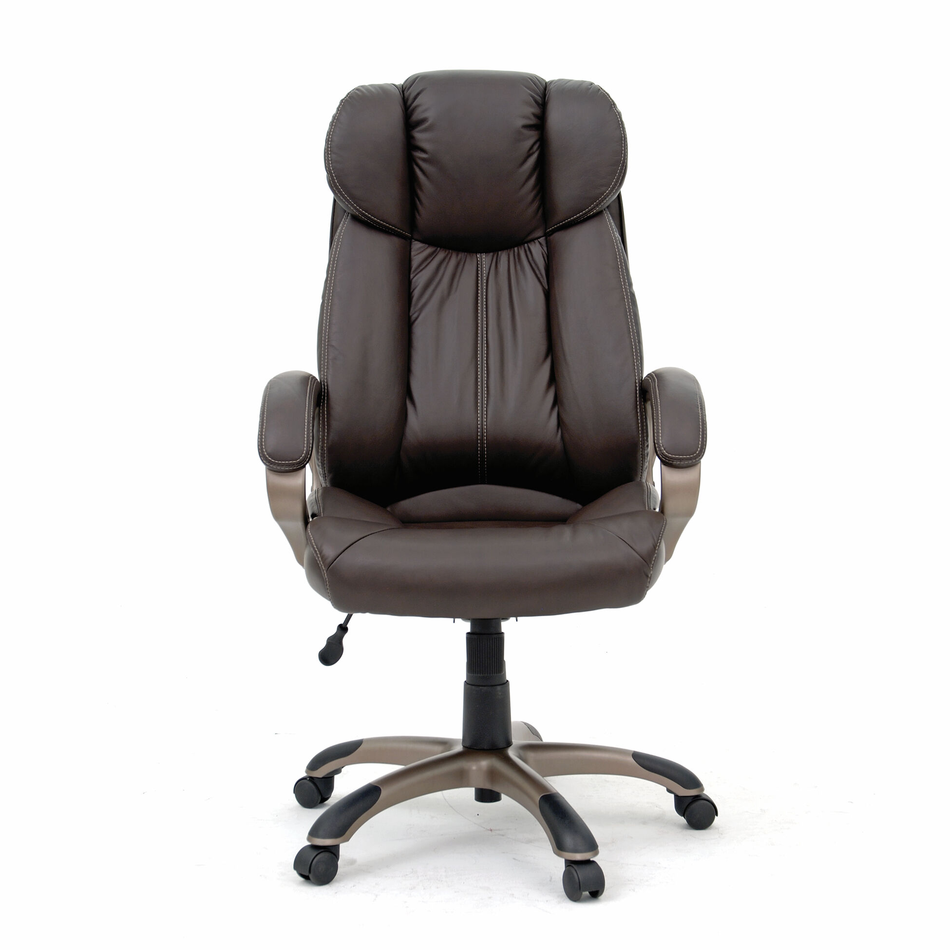 leather executive office chair discount church chairs contoured swivel tilt in brown   mathis brothers furniture