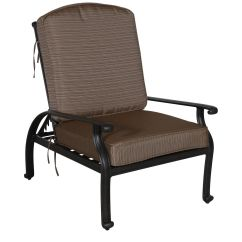 Recliner Club Chair Wedding Covers To Buy Uk Striped Aluminum Reclining In Brown Mathis