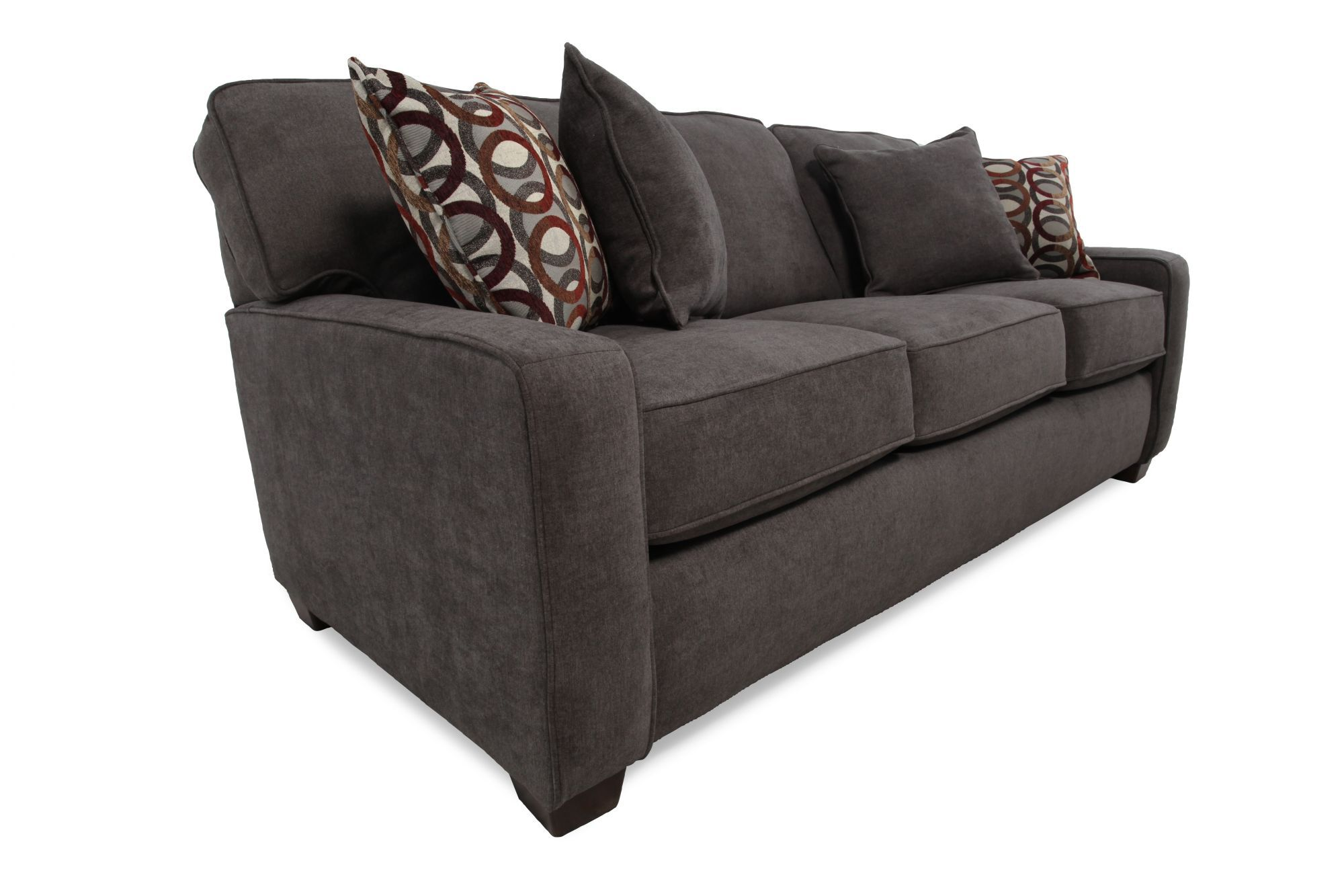 lane sleeper sofa queen repair casual 82 quot in dark granite gray