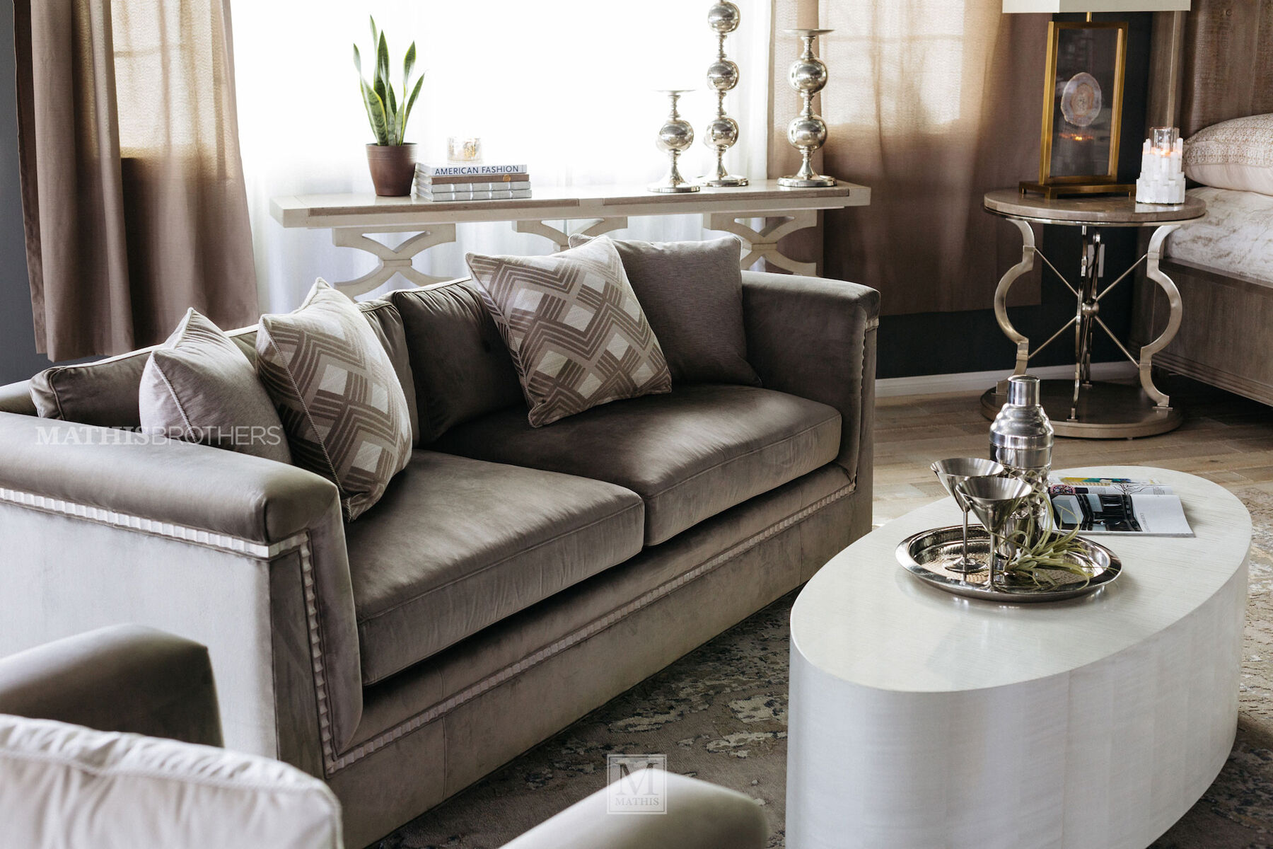 glam sofa set hamiltons gallery sofas couches mathis brothers furniture stores glamorous velvet 88 5 quot shelter