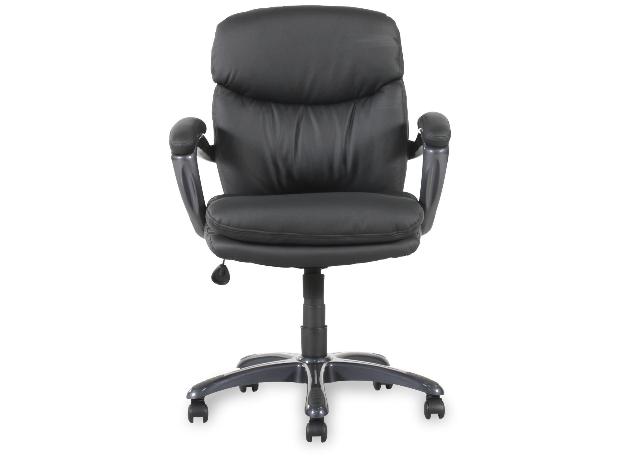 office chair armrest leather zero gravity canada padded swivel executive in black mathis