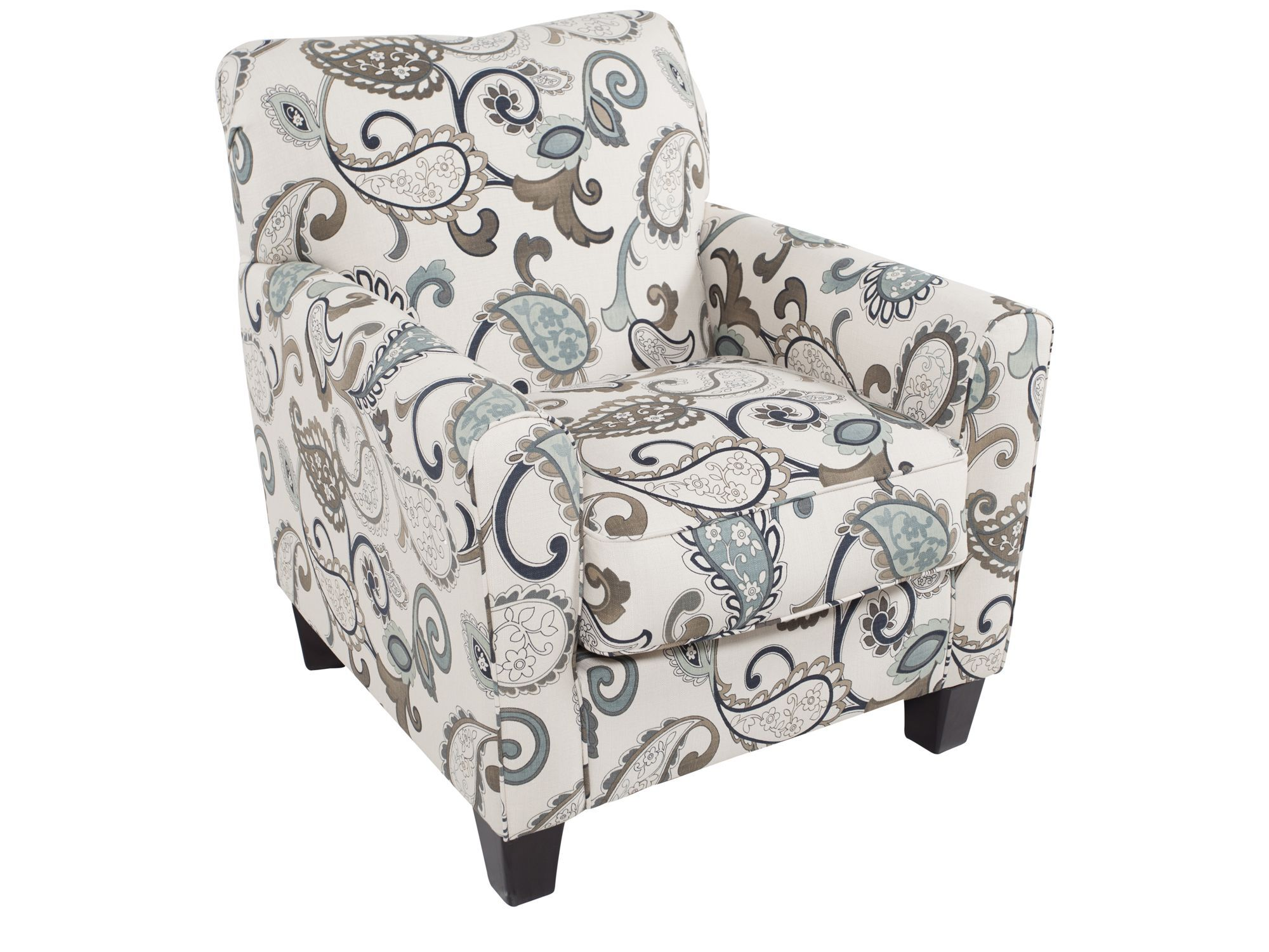 black and white paisley accent chair bungee patterned contemporary 35 in cream mathis quot