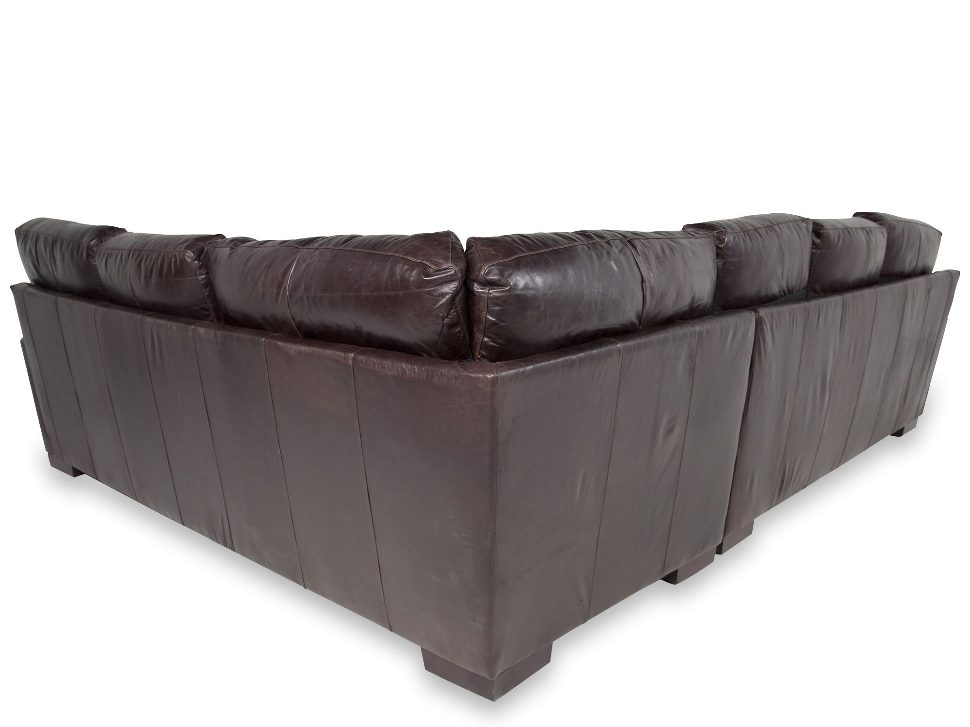 low profile leather sectional sofa slipcover sleeper two piece 106 quot in mahogany