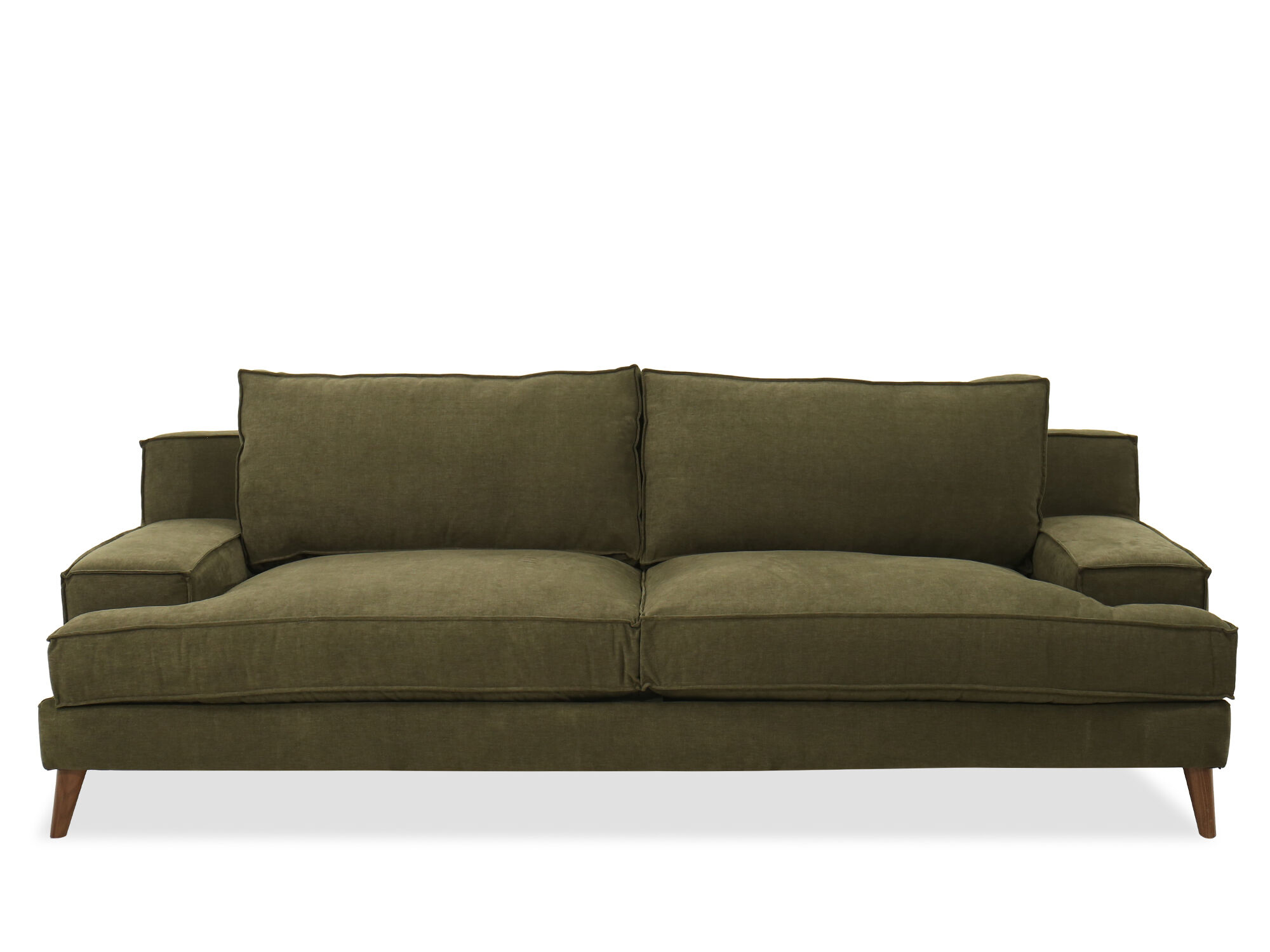 Modern LowProfile Plush Sofa in Forest Green  Mathis