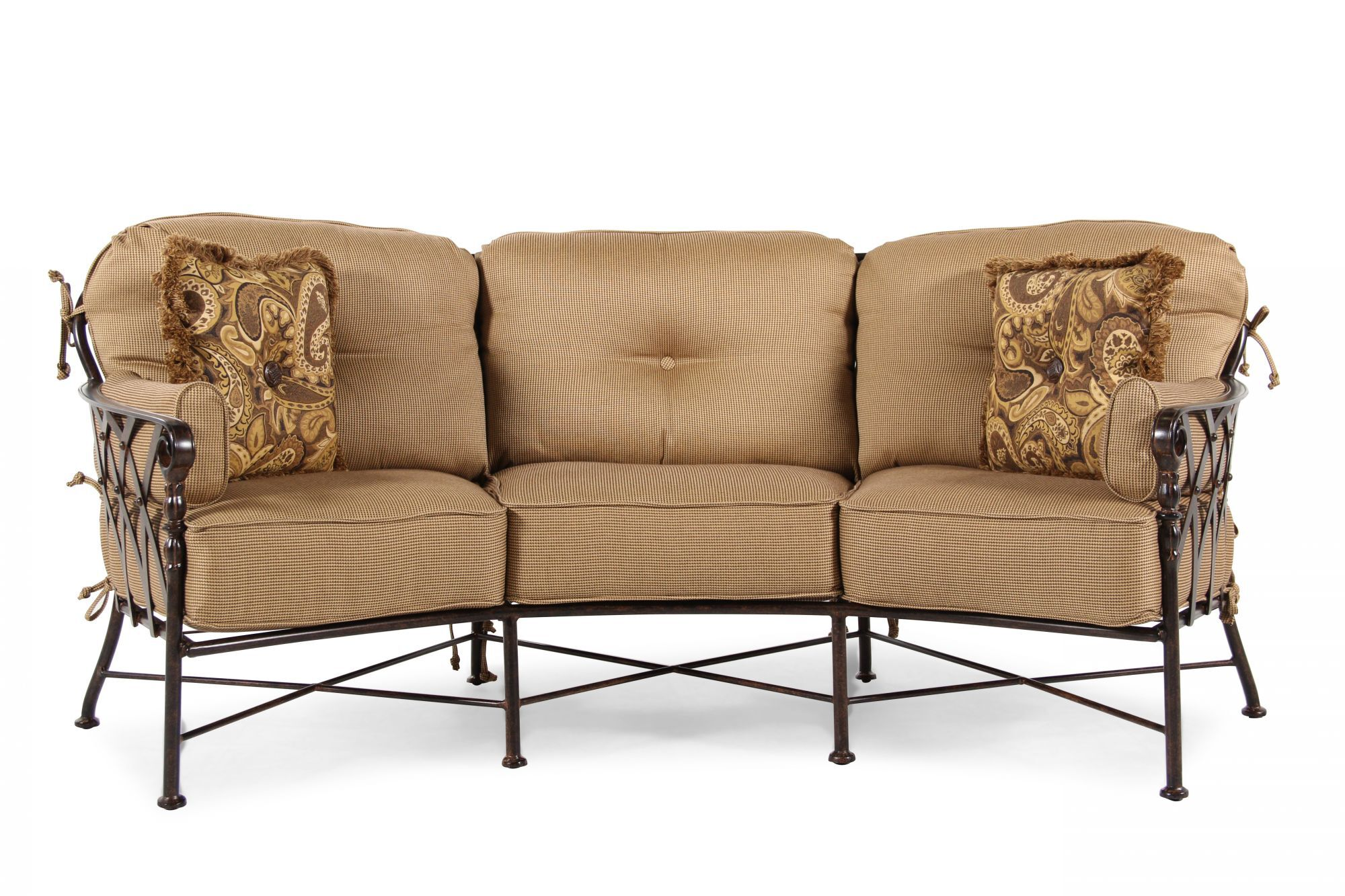 camerich sofa review used camper sofas crescent custom curved shape avelle 232 fabric