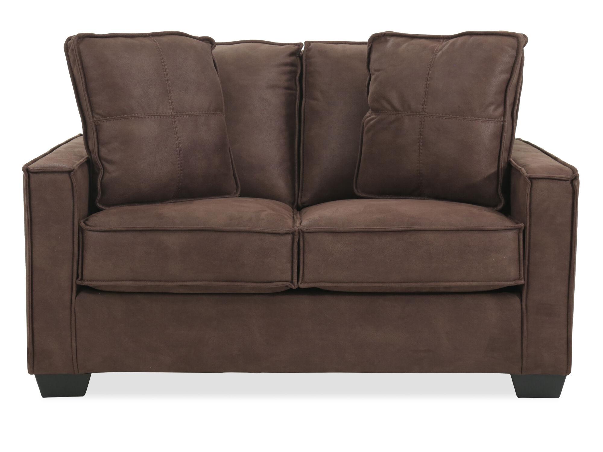 lauren ashley 60 zero wall sofa recliner modern beige sectional furniture piecrust welted contemporary quot loveseat in brown