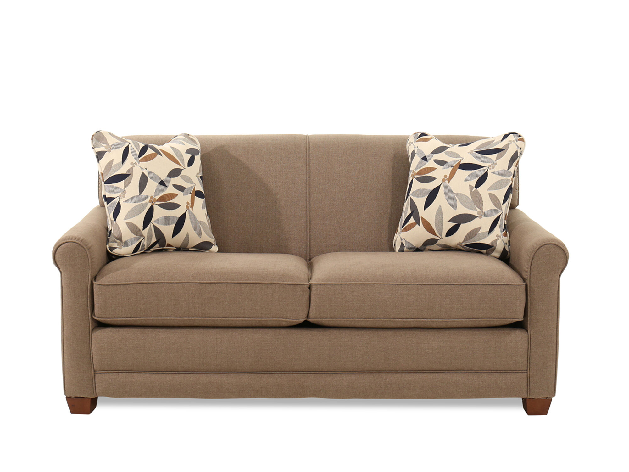 """Traditional 71"""" Full Sleeper Sofa in Brown   Mathis ..."""