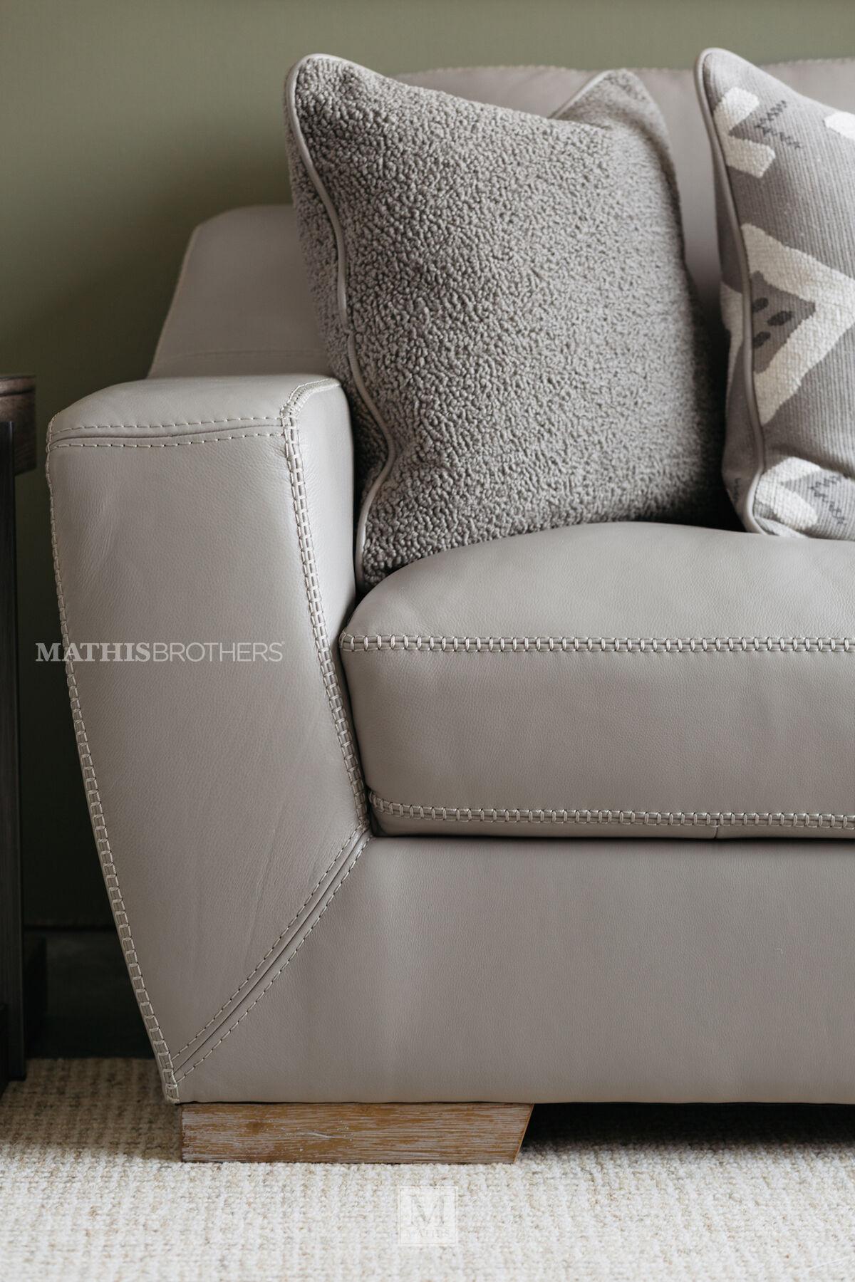 leather sofas in tulsa ok modern las vegas straight arm sofa grey | mathis brothers furniture
