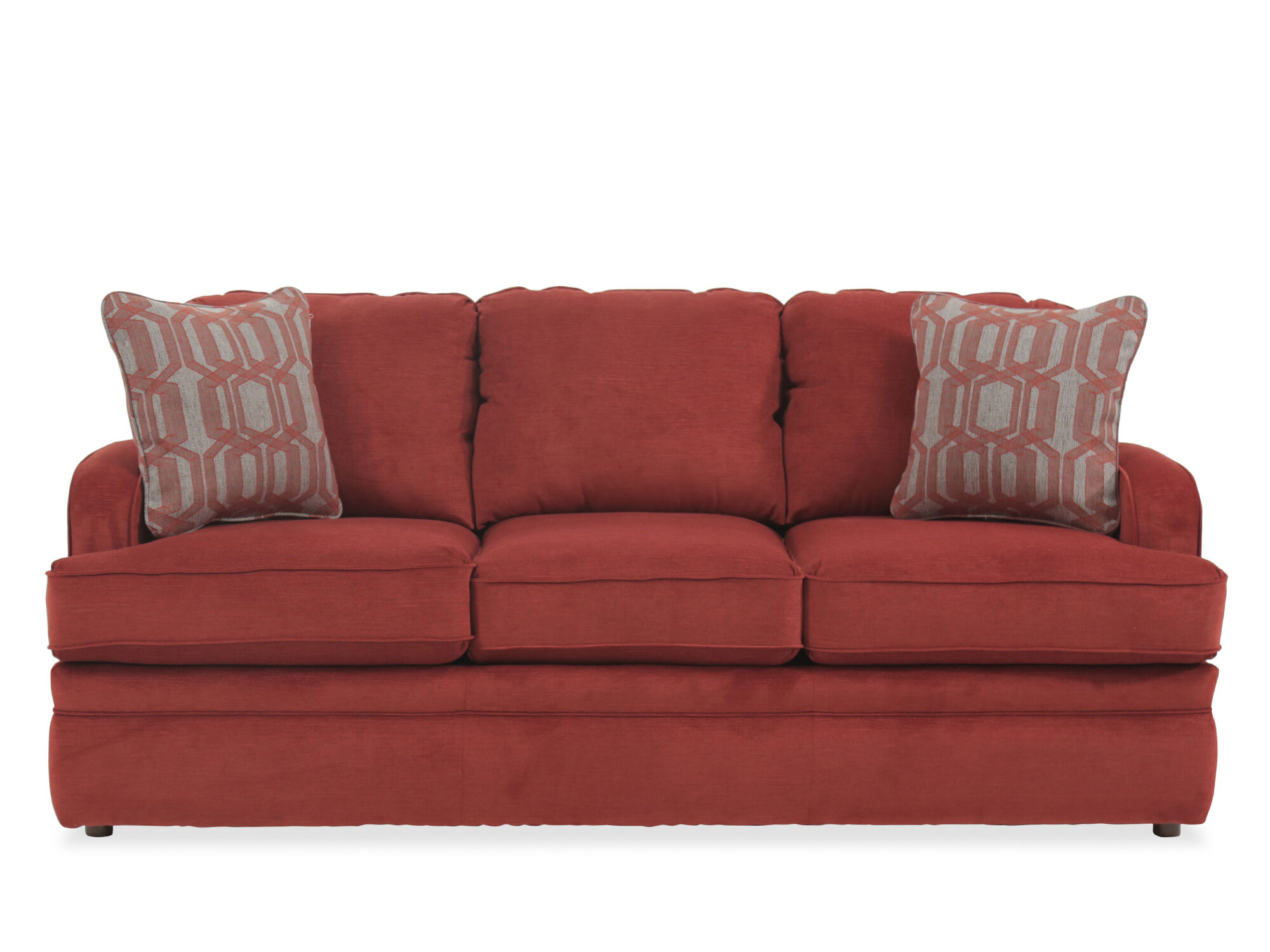 traditional sofa sleeper the shop calgary 77 quot queen in crimson mathis