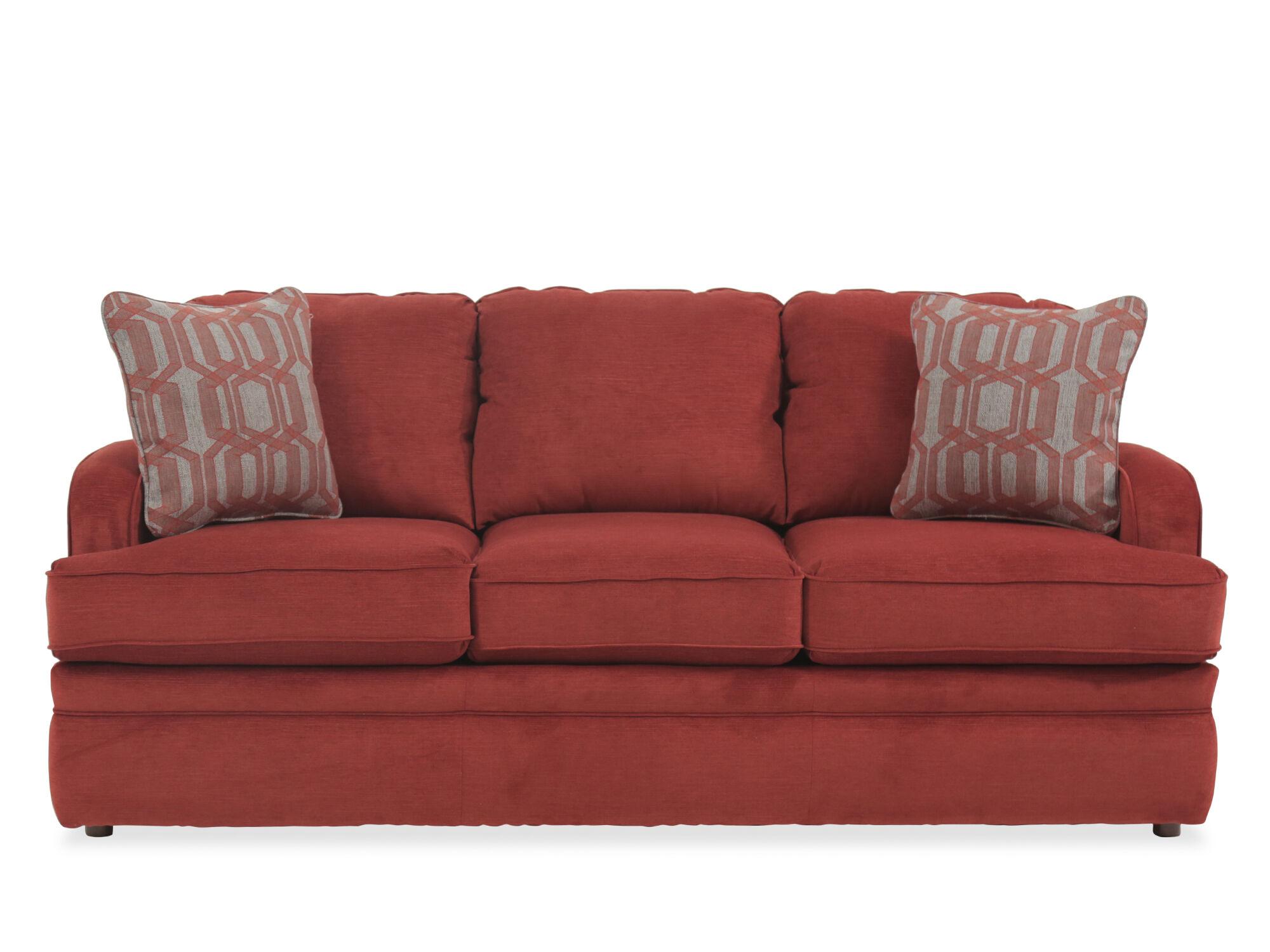 "Traditional 77"" Queen Sleeper Sofa in Crimson   Mathis ..."