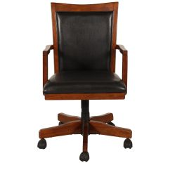 Swivel Office Chair Base Thick Patio Cushions Desk In Rich Oak Mathis Brothers Furniture