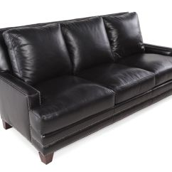 Black Leather Sofa With Nailheads Cheap Cleaning Nailhead Accented 86 Quot In Mathis