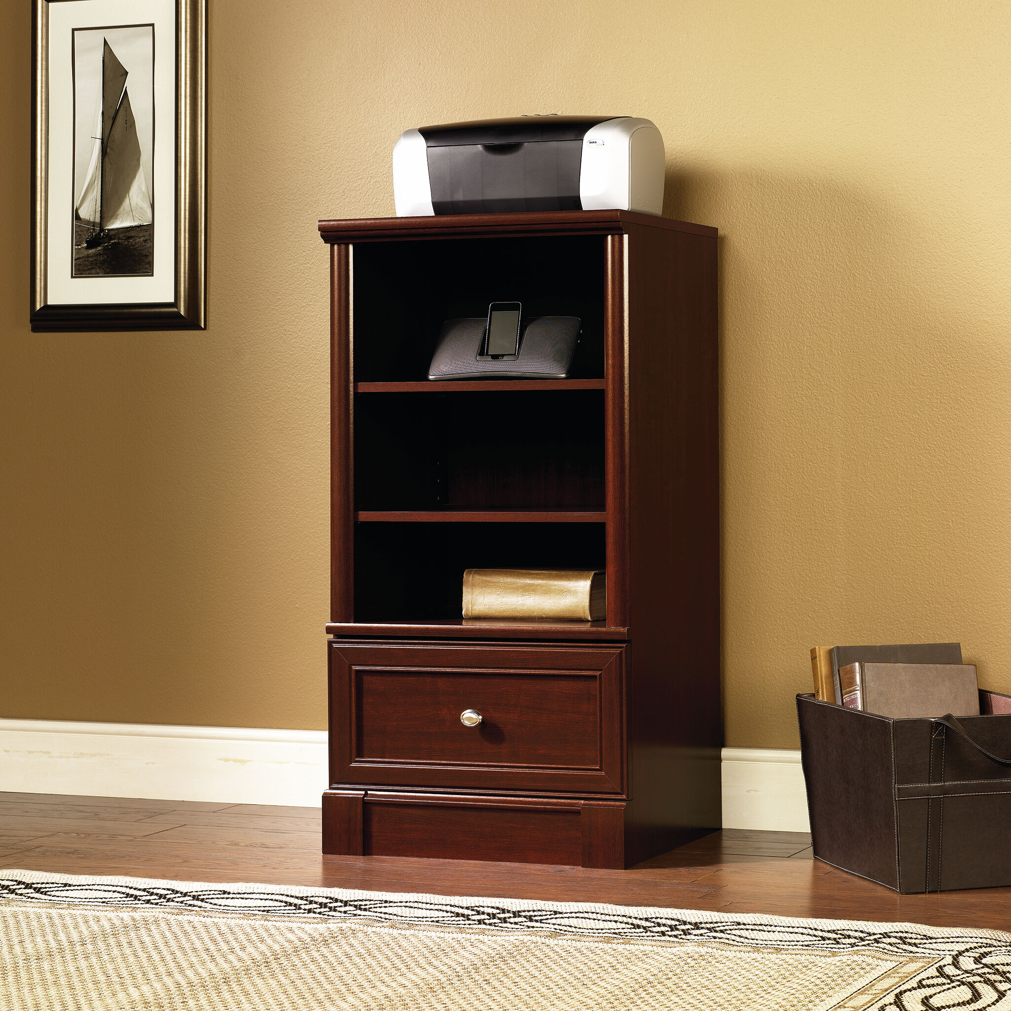 TwoShelf Traditional Technology Pier in Cherry  Mathis
