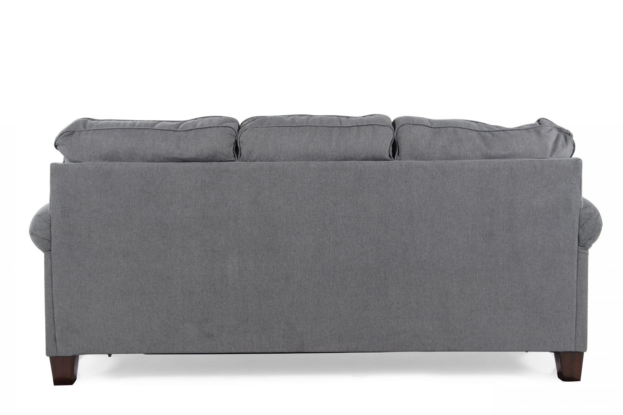modern sleeper sofa under 1000 spring repair cost uk contemporary 78 quot full in denim blue mathis