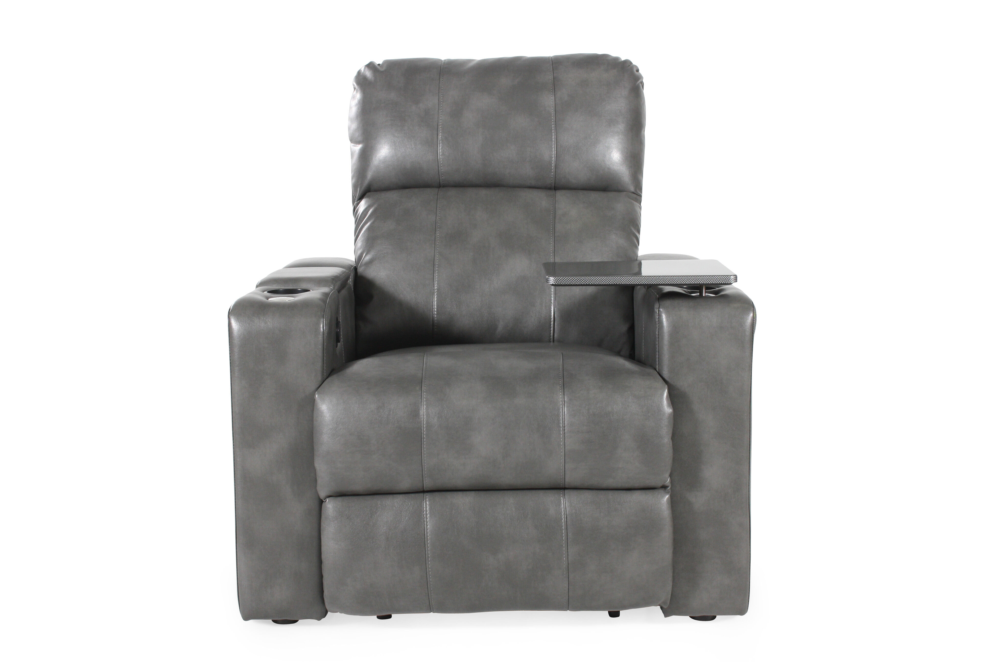 theater recliner chairs danish for sale traditional home power in grey mathis