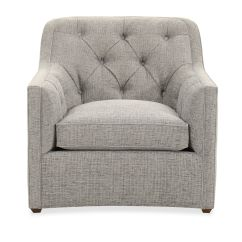 Tufted Blue Chair Zara Swivel Button 34 Quot In Tweedy Mathis Brothers
