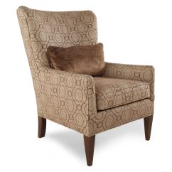 Patterned Living Room Chairs True Innovations Chair Assembly Instructions Transitional Trellis 30 Quot Wing In Brown