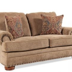 Lane Cooper Sofa Navy Blue Slipcovers Textured Traditional 74 Quot Loveseat In Medium Brown Mathis