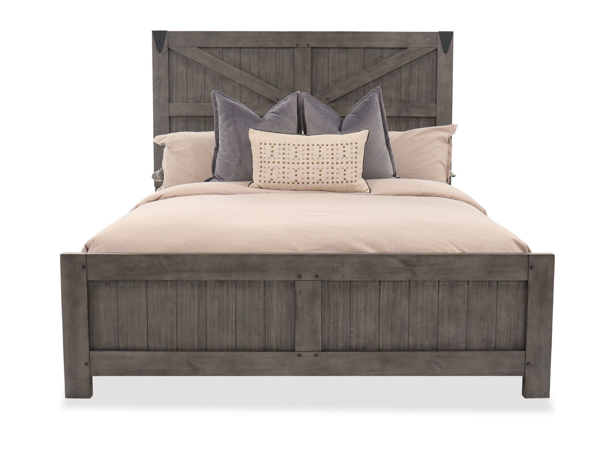 rustic farmhouse panel bed in french