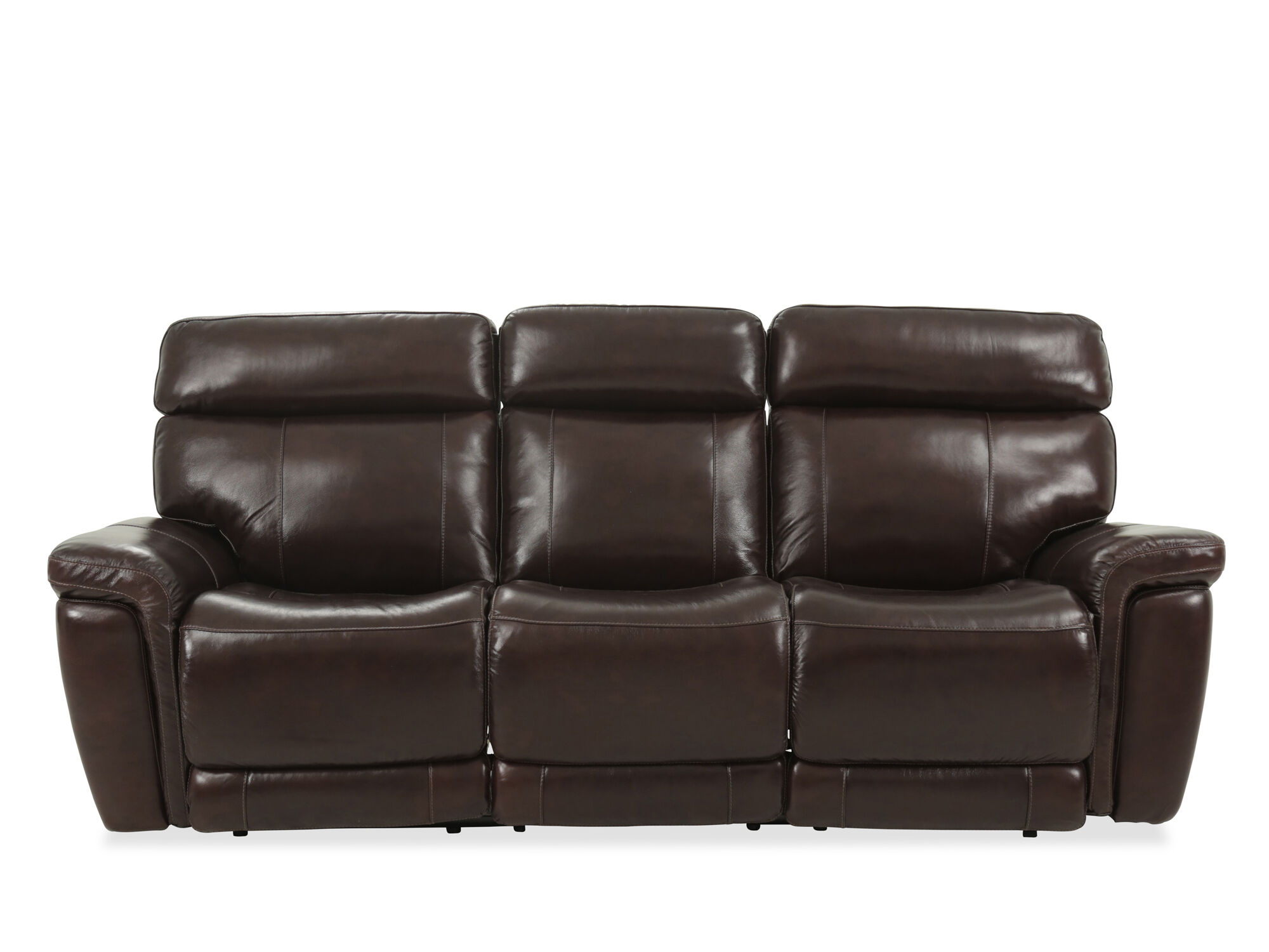 reclining sofa leather brown fest amsterdam dunbar 91 quot power in mathis